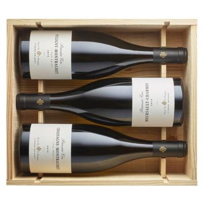 Caisse bois 3 bouteilles Premiers Crus blancs 2015