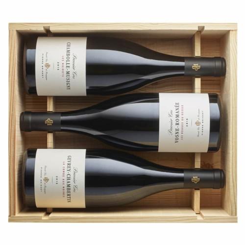 Caisse bois 3 bouteilles Premiers Crus rouges 2015