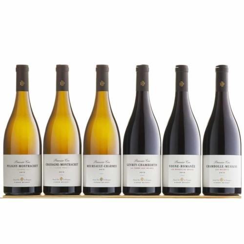 Caisse bois 6 bouteilles Premiers Crus rouges et blancs 2015