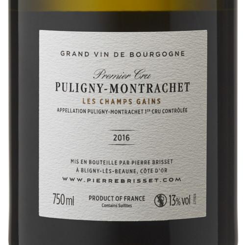 Puligny Montrachet Premier Cru Champs Gains 2016
