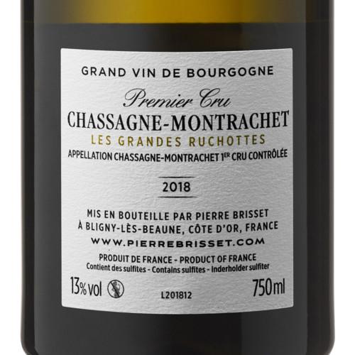 Chassagne Montrachet Premier cru - Les Grandes Ruchottes 2018 Pierre Brisset